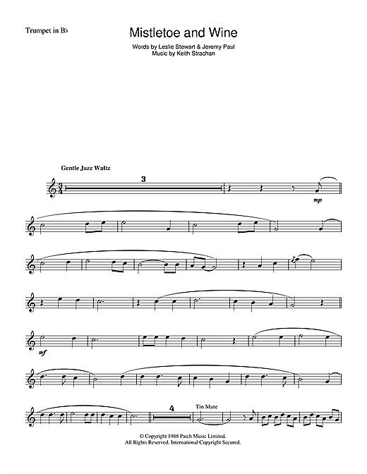 Mistletoe And Wine Sheet Music