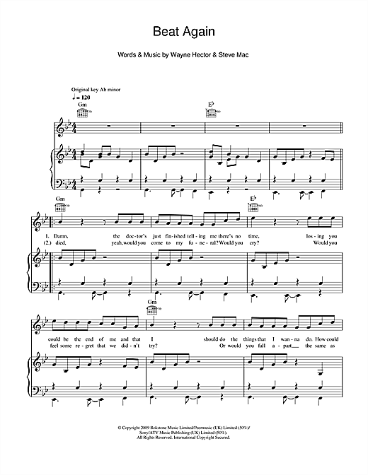 Beat Again Sheet Music