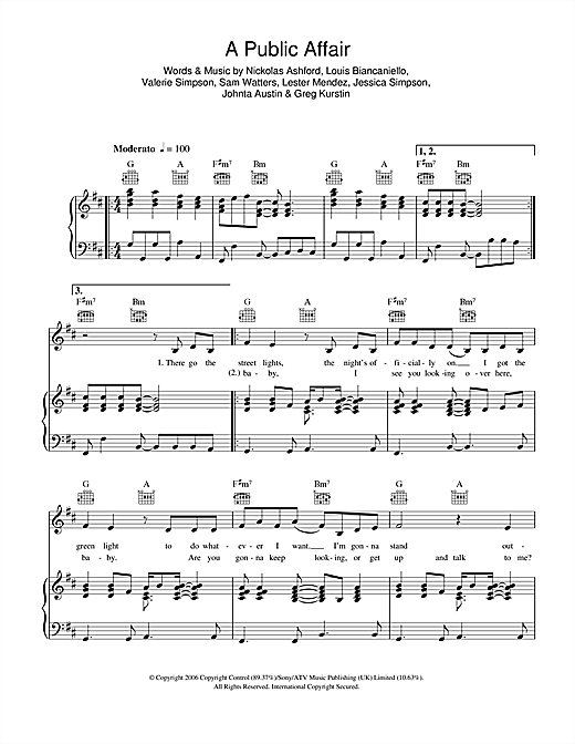 A Public Affair Sheet Music