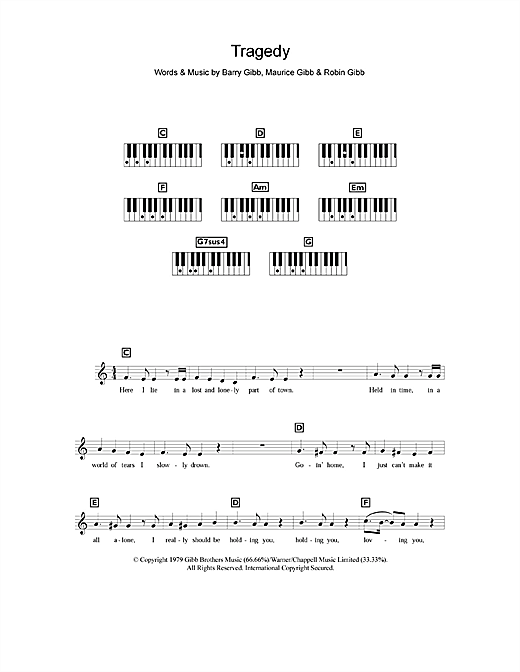 Tragedy Sheet Music