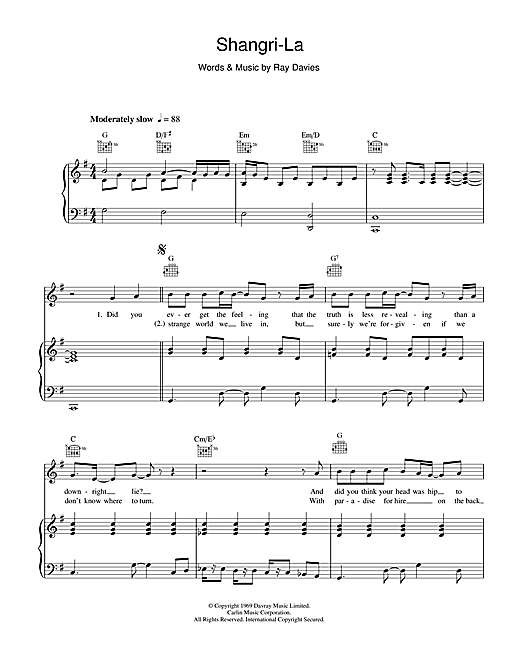Shangri-La Sheet Music