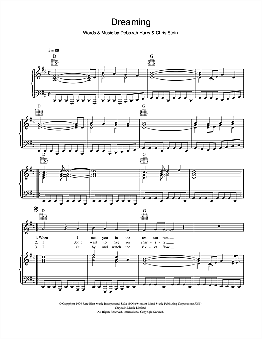 Dreaming Sheet Music