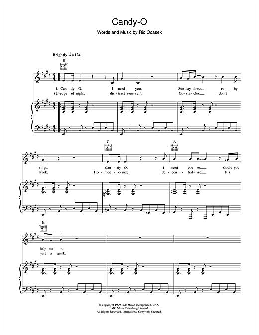 Candy-O Sheet Music