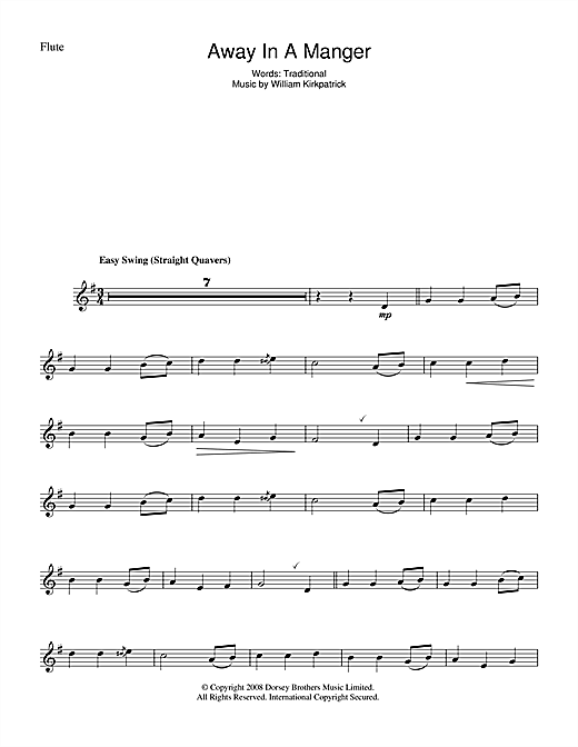 Away In A Manger Sheet Music