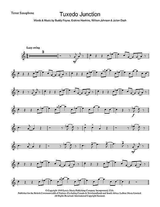 Tuxedo Junction Sheet Music