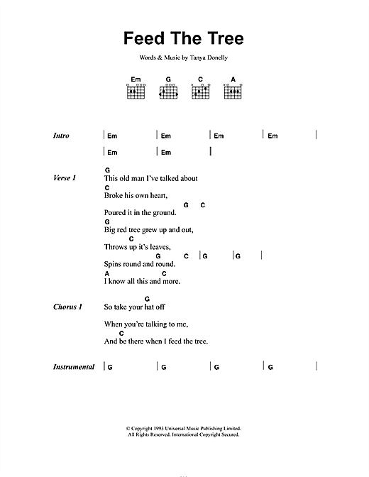 Feed The Tree Sheet Music