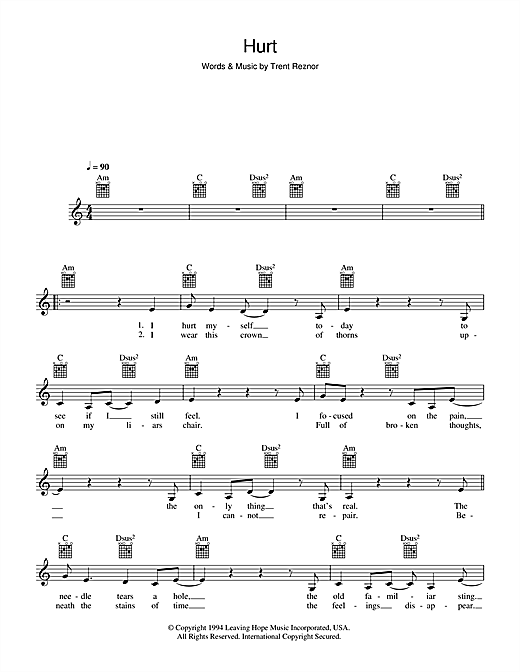Hurt Sheet Music