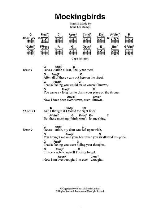 Mockingbirds (Lyrics & Chords)