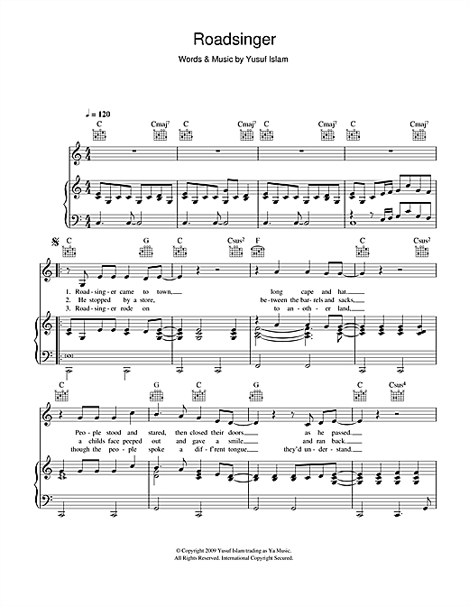 Roadsinger Sheet Music