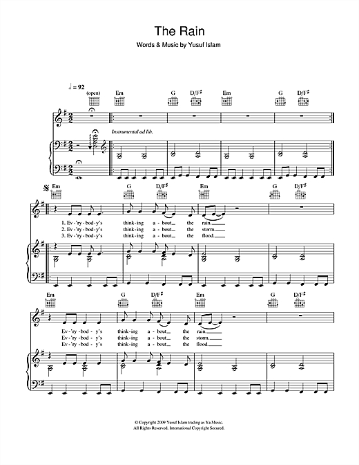 The Rain Sheet Music