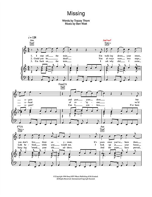 Missing Sheet Music