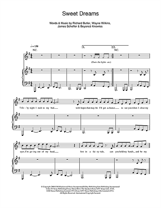 Sweet Dreams Sheet Music