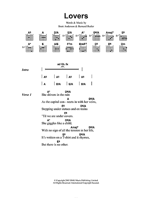 Lovers Sheet Music