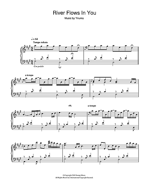 River Flows In You sheet music by Yiruma (Piano – 48885)