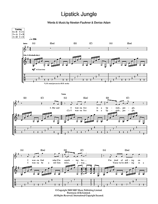 Lipstick Jungle (Guitar Tab)