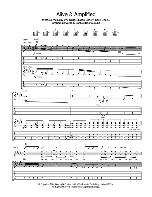 Alive And Amplified Sheet Music