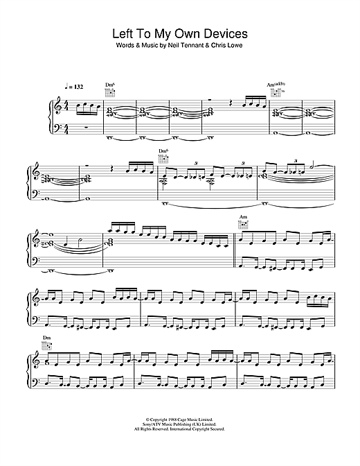 Left To My Own Devices Sheet Music