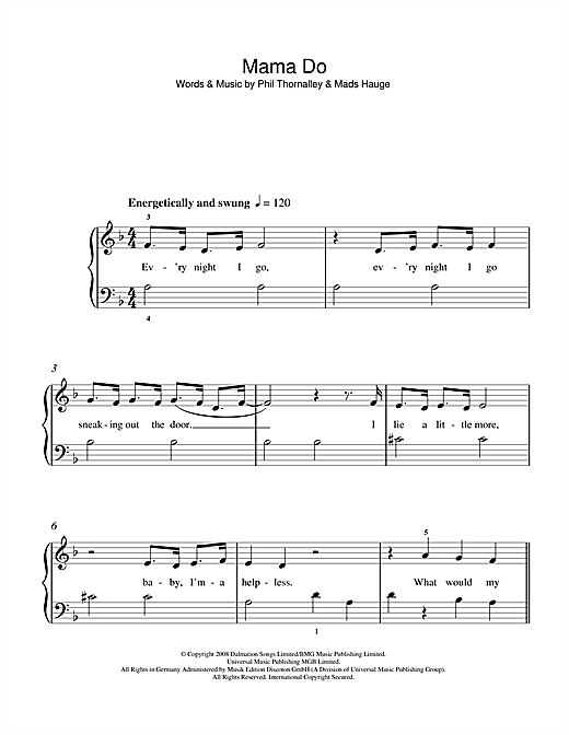 Mama Do Sheet Music
