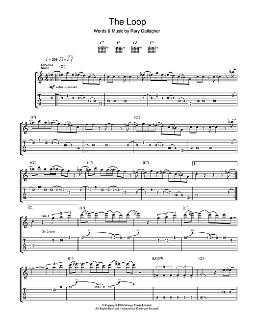 The Loop Sheet Music