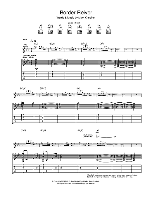 Border Reiver Sheet Music
