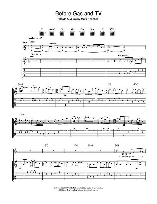 Before Gas & TV (Guitar Tab)
