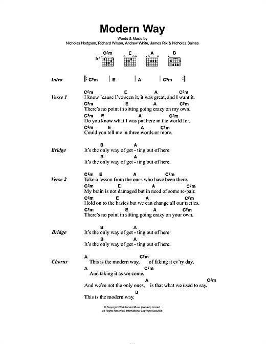 Modern Way Sheet Music