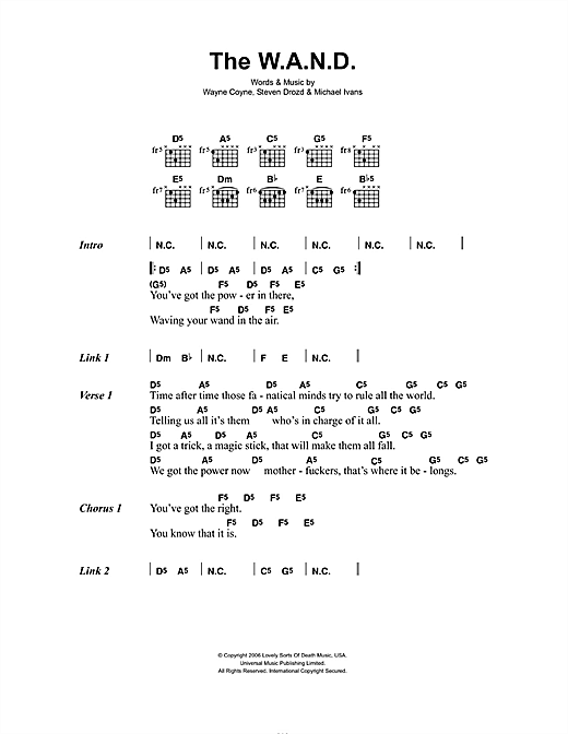 The W.A.N.D. Sheet Music