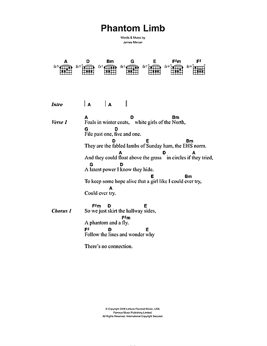 Phantom Limb Sheet Music