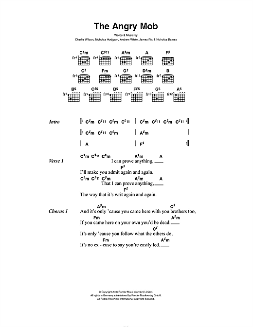 The Angry Mob Sheet Music