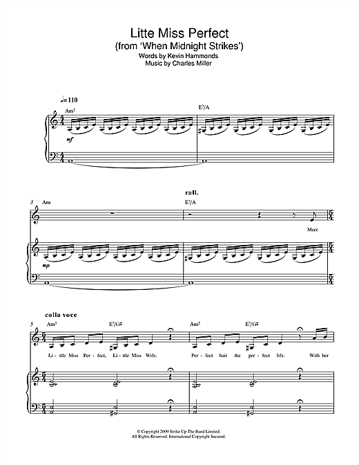 Little Miss Perfect (From When Midnight Strikes) Sheet Music