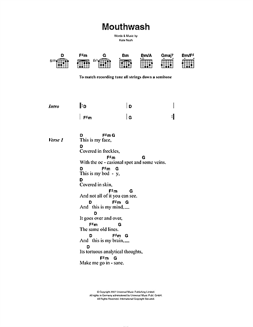 Mouthwash Sheet Music