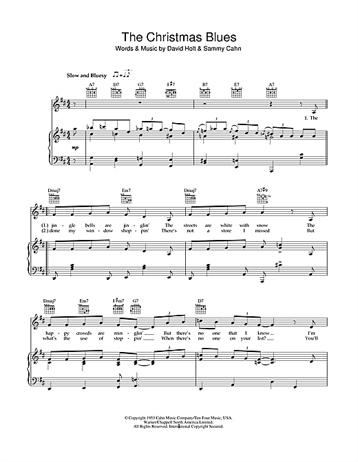 The Christmas Blues Sheet Music