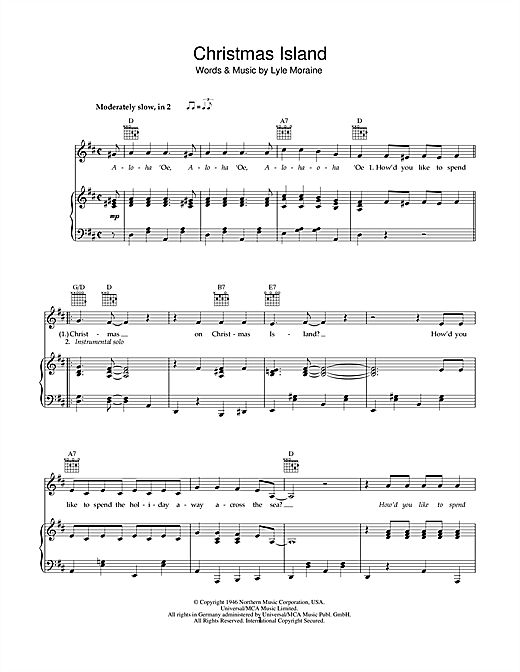 Christmas Island Sheet Music