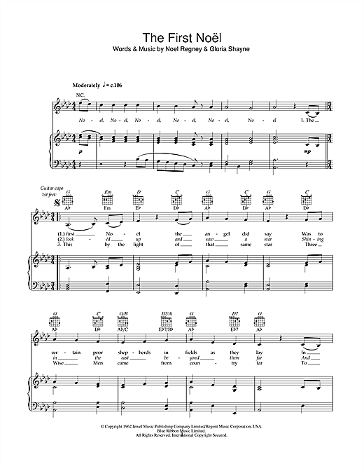 The First Noel Print Sheet Music Now