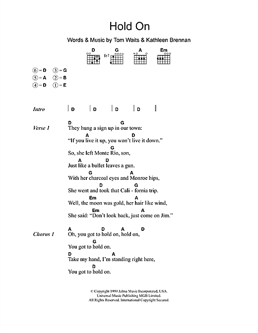 Hold On (Guitar Chords/Lyrics)