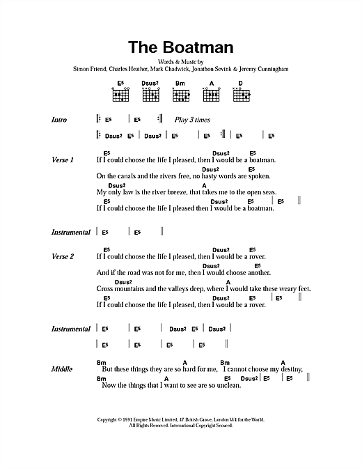 The Boatman Sheet Music