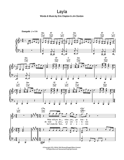 Layla Sheet Music