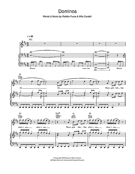 Dominos Sheet Music