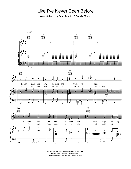 Like I've Never Been Gone Sheet Music