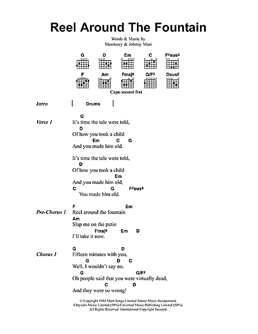 Reel Around The Fountain (Guitar Chords/Lyrics)