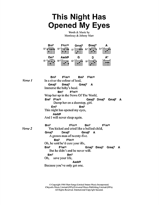 This Night Has Opened My Eyes Sheet Music