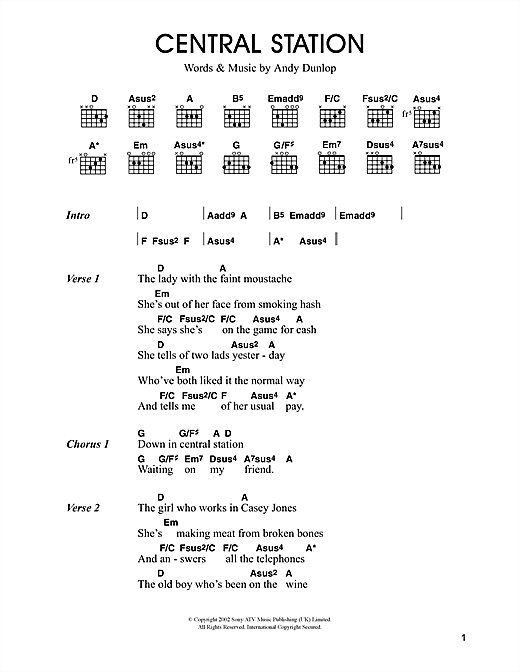 Central Station Sheet Music