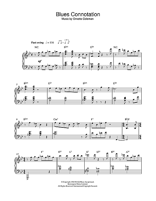 Blues Connotation Sheet Music