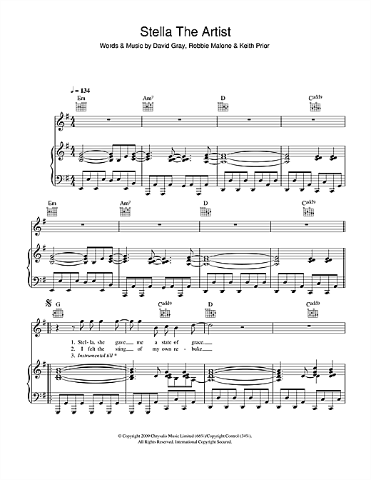 Stella The Artist Sheet Music