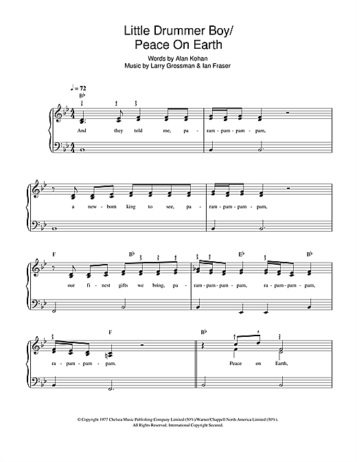 Peace On Earth / Little Drummer Boy Sheet Music