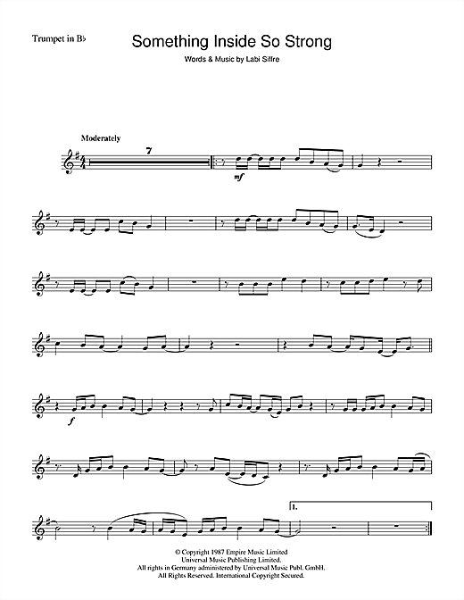(Something Inside) So Strong Sheet Music