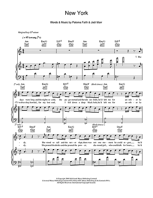 New York Sheet Music