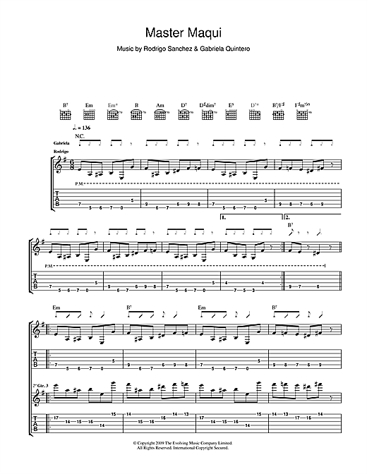 Master Maqui Sheet Music