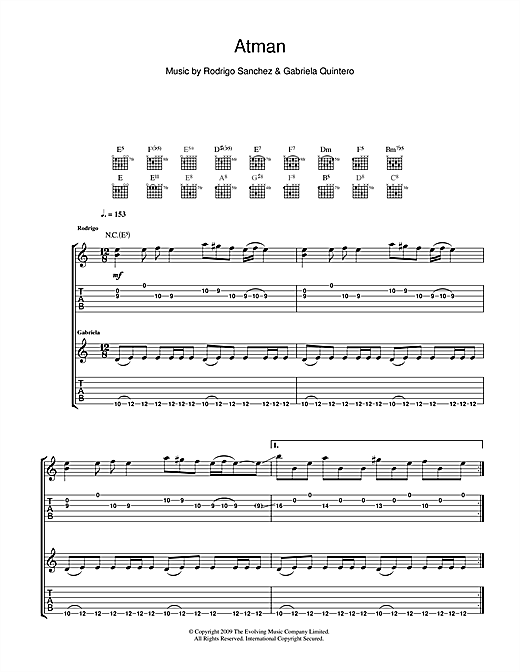 Atman Sheet Music