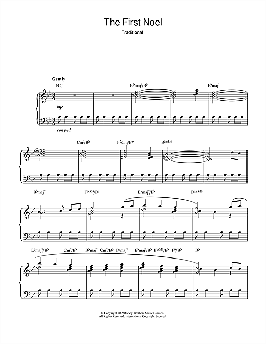 The First Nowell (jazz version) Sheet Music